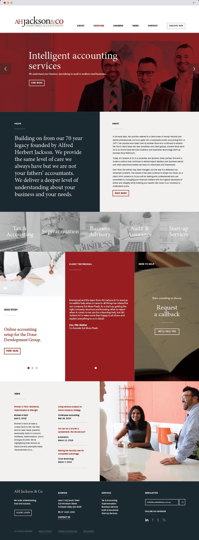 AHJackson-Home-wordpress-website